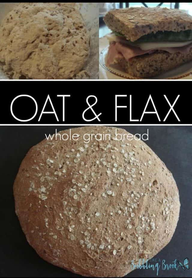 Made with whole wheat flour, oats, and flaxseed, this crusty oat & flax bread recipe is sure to be a hit in your home.
