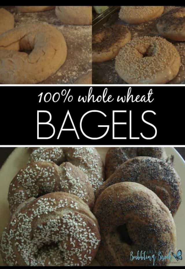 WHOLE WHEAT BAGELS RECIPE