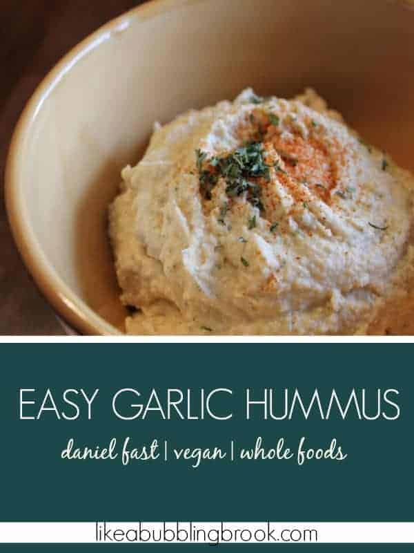 SIMPLE HUMMUS RECIPE