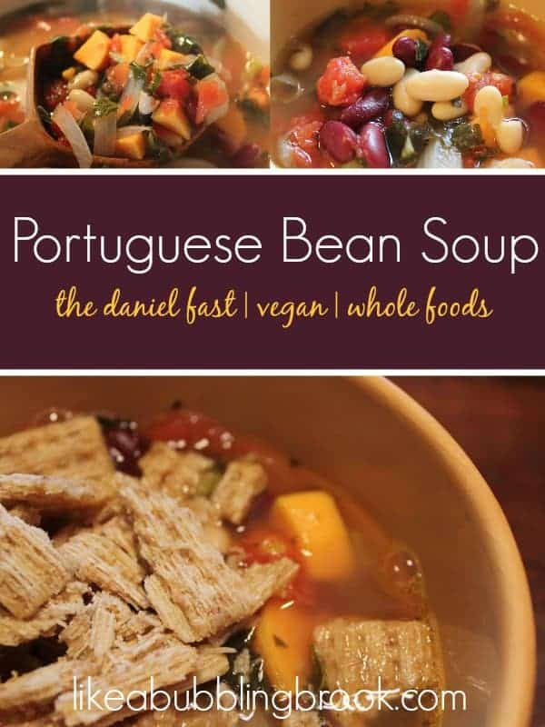 DANIEL FAST RECIPES - PORTUGUESE BEAN SOUP