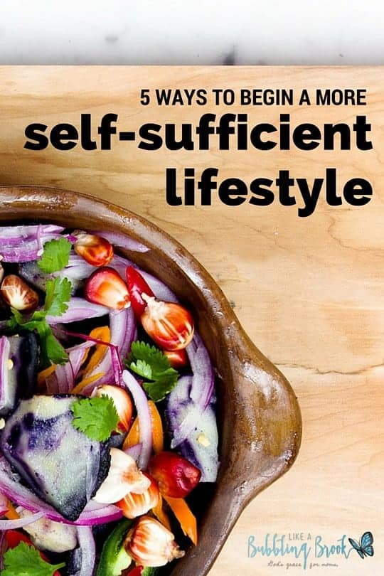 Self- Sufficient Lifestyle