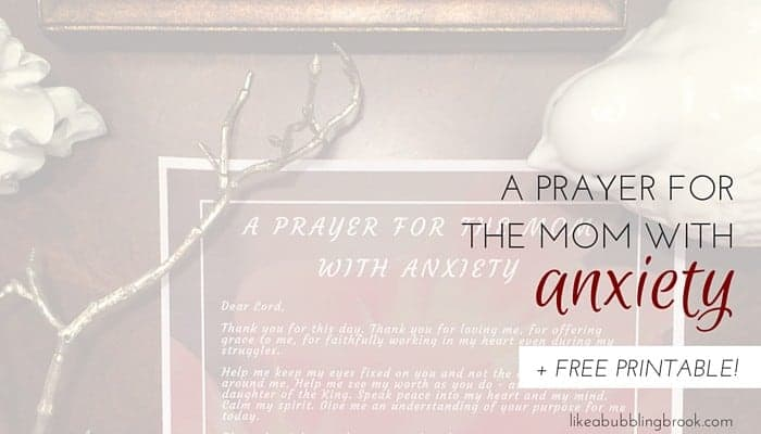 A PRAYER FORTHE MOM WITH