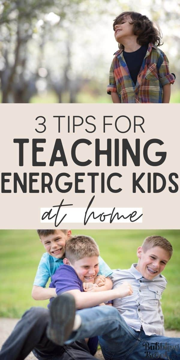 tips for teaching kids at home - pin for pinterest