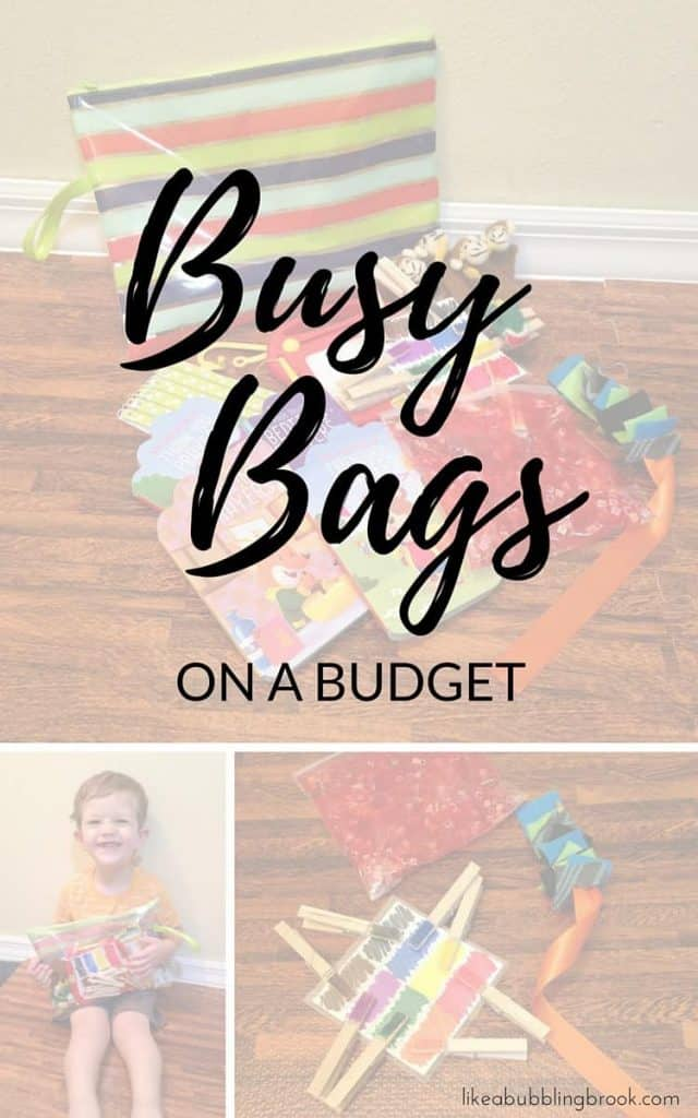 Busy Bags Ideas for Toddlers at Church