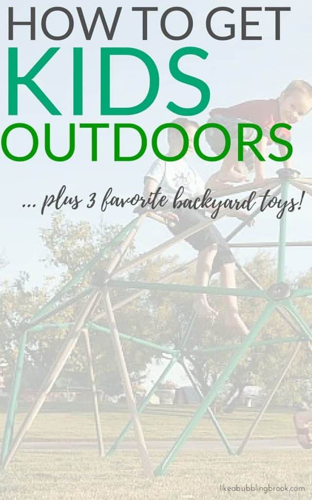 How to get kids outdoors in the summer, plus favorite backyard toys for ultimate summer fun!