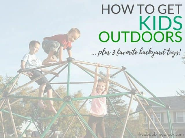 How to get kids outdoors, plus 3 favorite backyard toys for ultimate summer fun