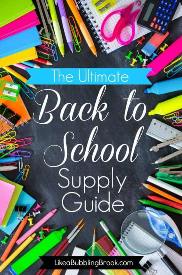 It's almost that time of year again! Here's the ultimate back to school supplies list to get you armed and ready for another great school year. #backtoschool #schoolsupplies
