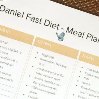 Daniel Fast food list ideas