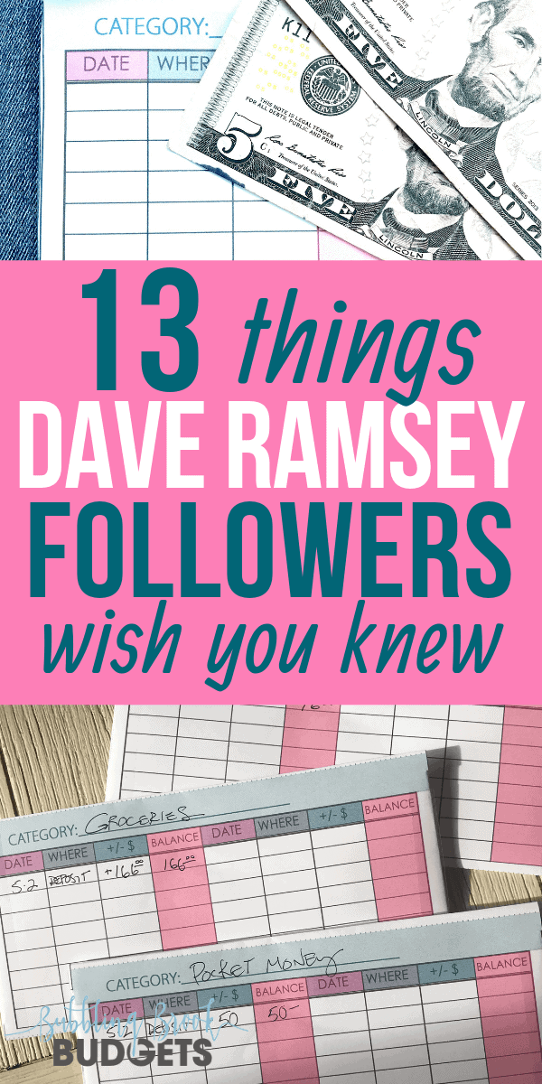 13 Things Dave Ramsey Followers Wish You Knew