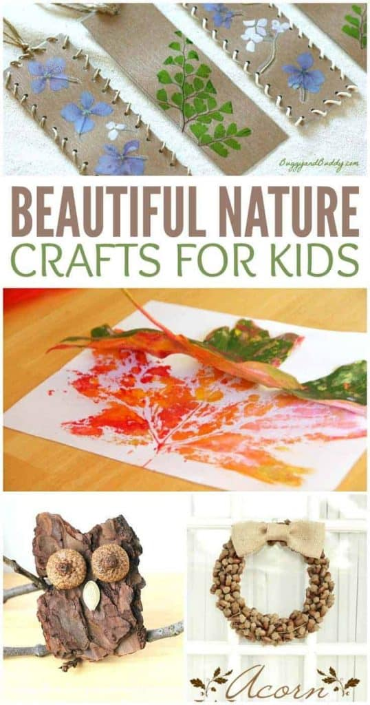 Beautiful Nature Crafts for Kids - PINTEREST-2