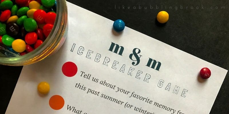 M&M Game Printable: Get To Know You Games Icebreaker