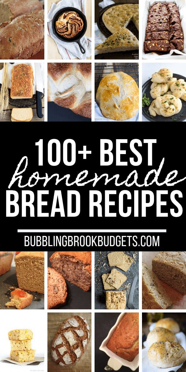 Try one of these amazing homemade bread recipes this weekend. From sourdough bread to sweet bread, you have 100 of the best homemade bread recipes to choose from!