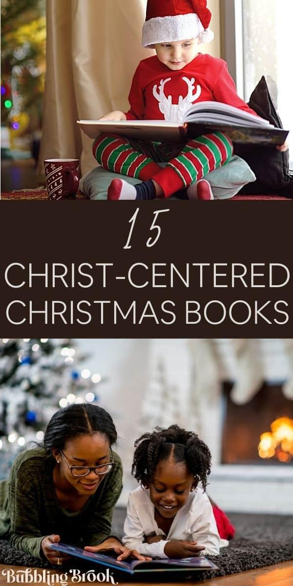 15 Christ Centered Christmas Books - pin for pinterest
