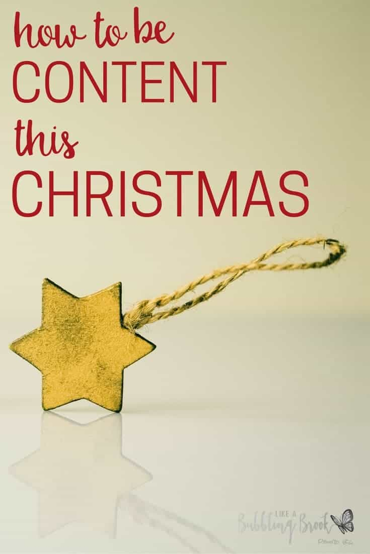Contentment during the Christmas season | Story of Mary and the birth of Jesus.