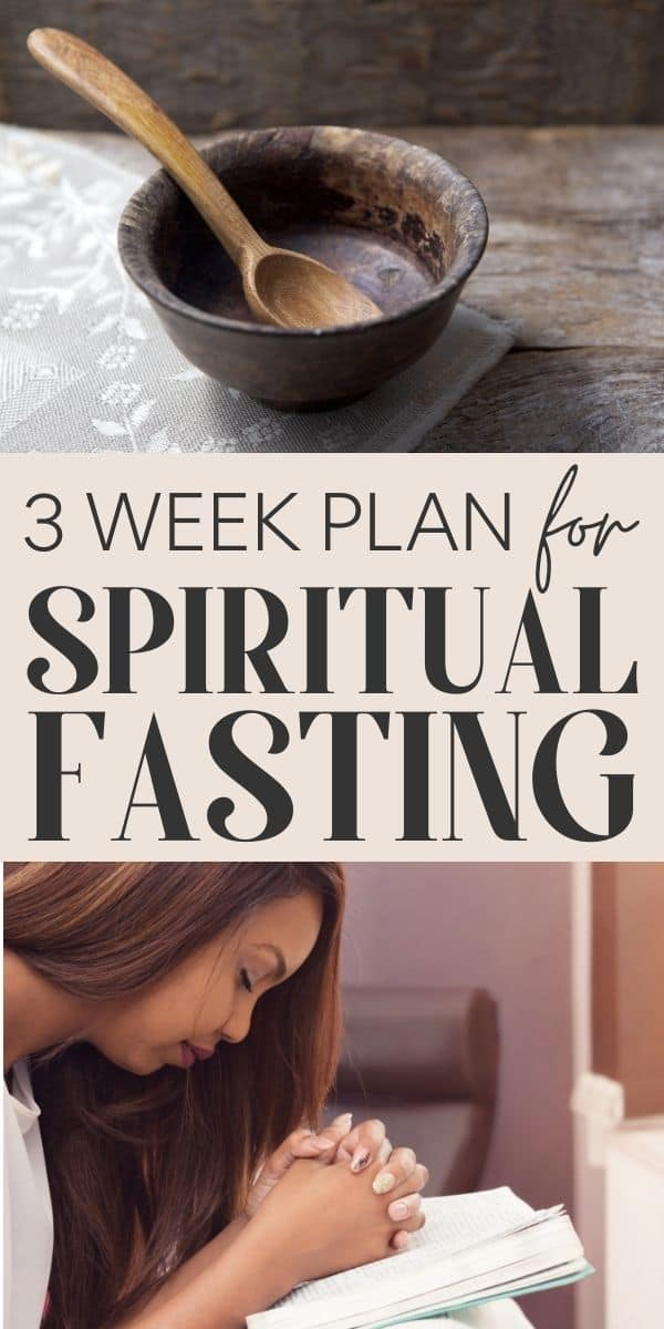 Spiritual Fasting for 21 days - pin for pinterest