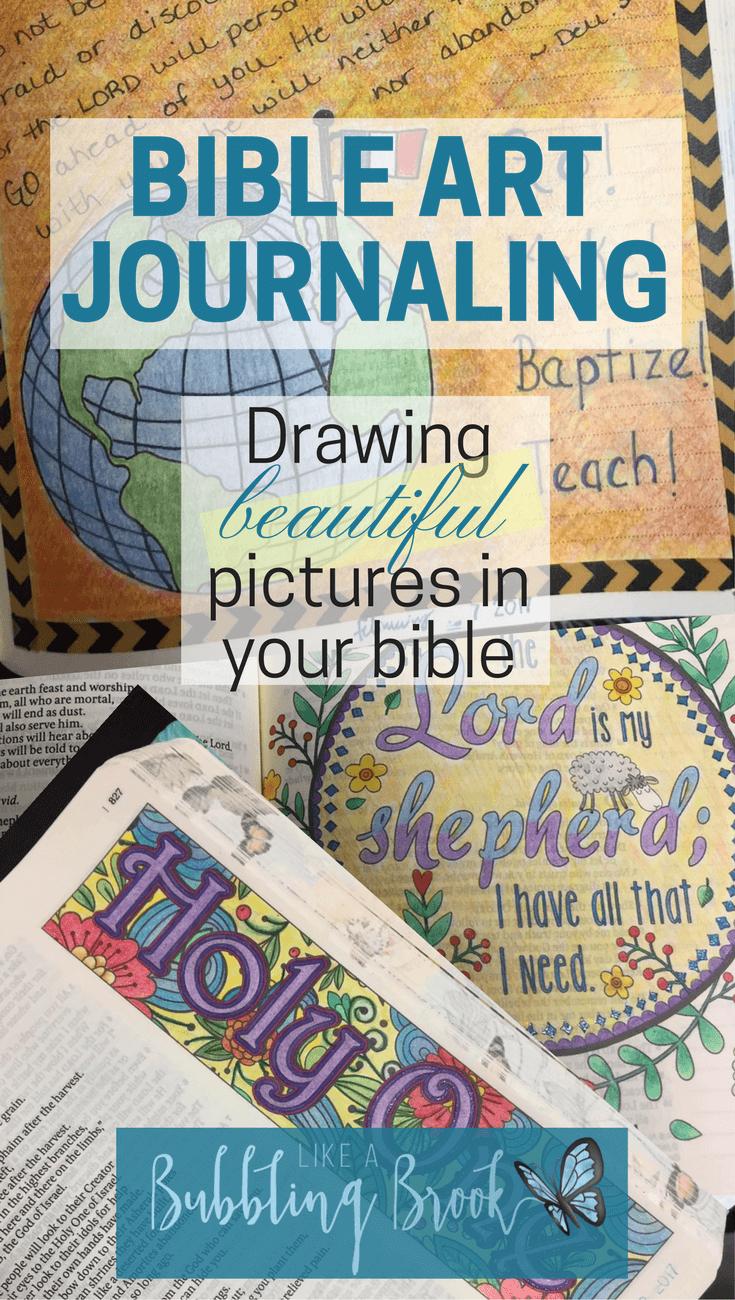 Bible Art Journaling Ideas Collage