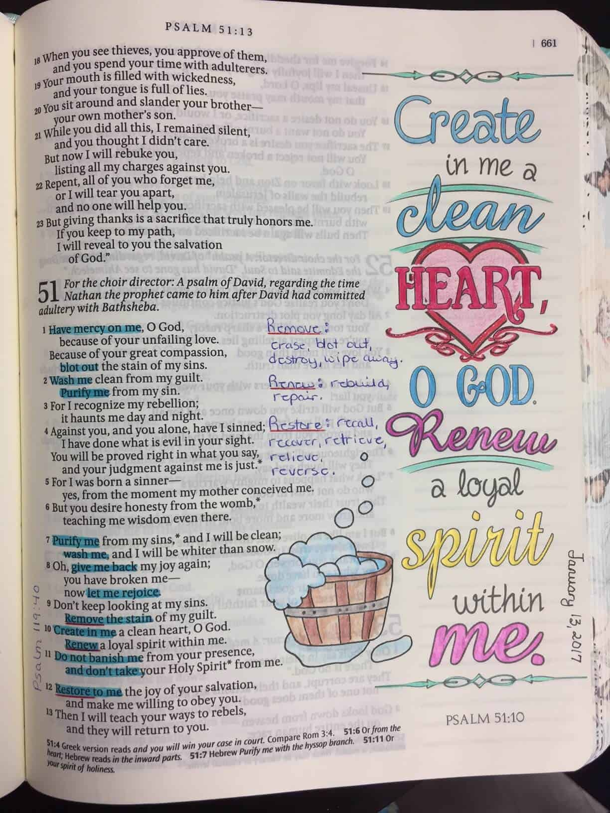 bible journaling ideas and tips