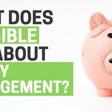What does the bible say about money management?