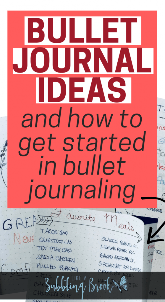 Bullet journal ideas and how to get started in bullet journaling