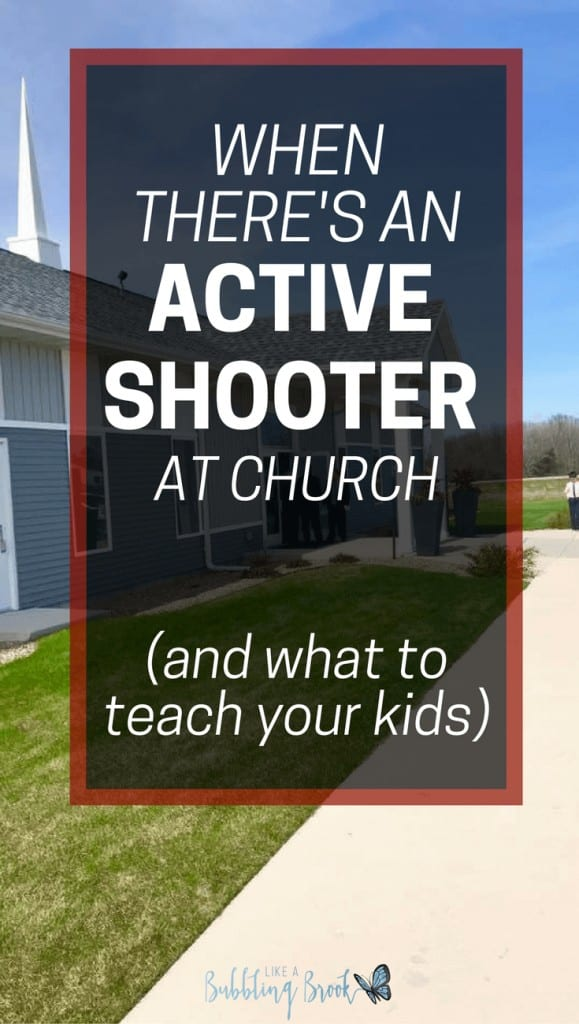 What to do if there's an active shooter at church, and what to teach your kids
