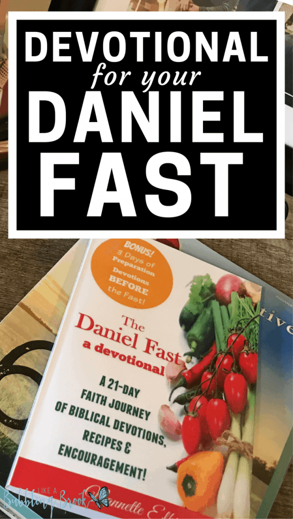 Daniel Fast devotional book with recipes and daily encouragement