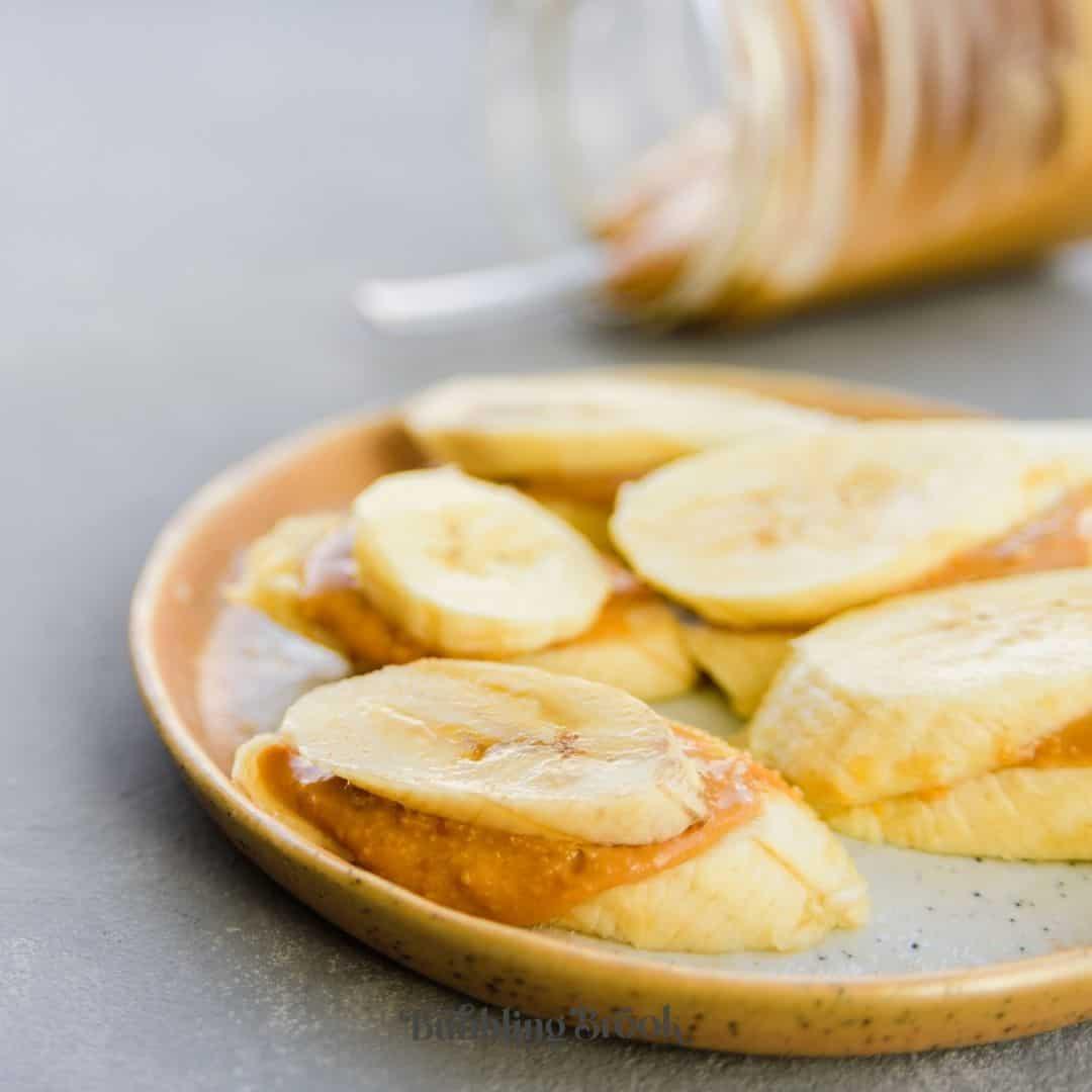 banana peanut butter snack idea