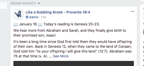 women's online bible study group post