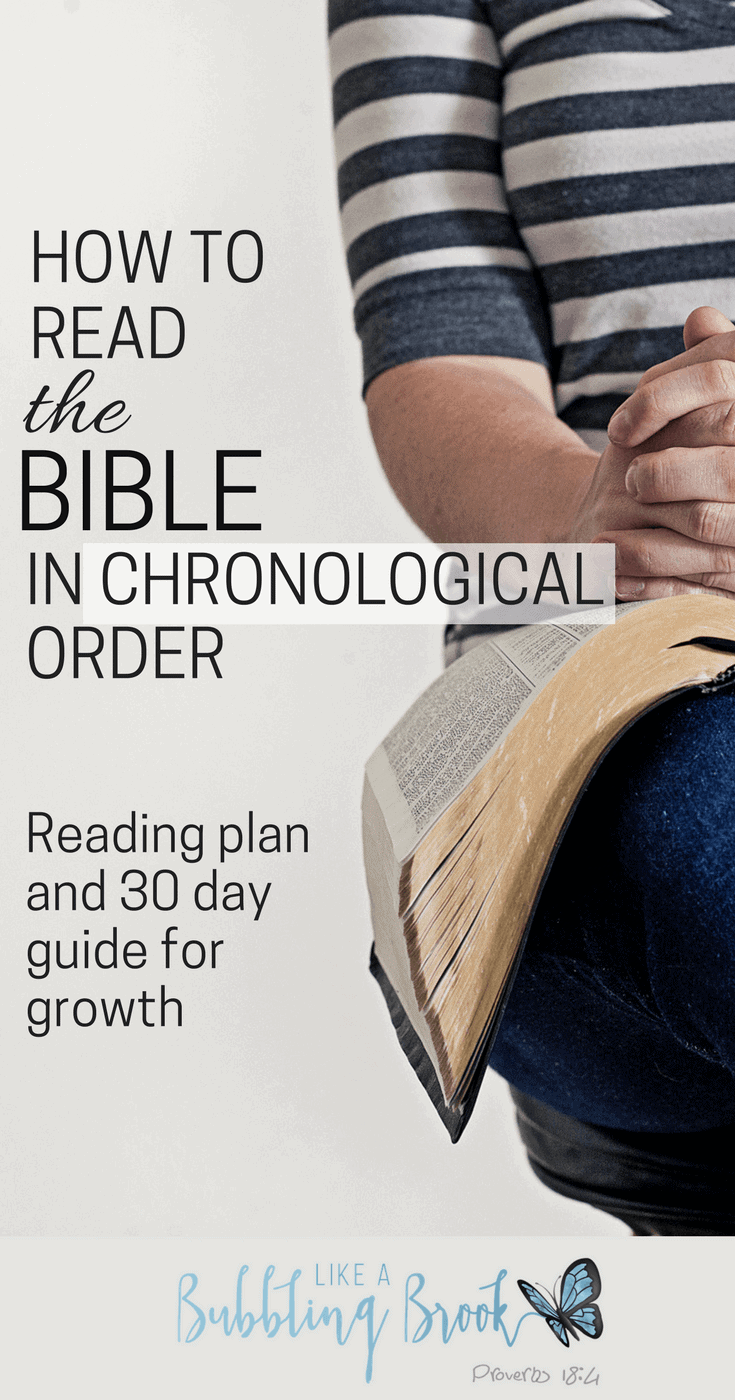 Chronological bible reading plan study