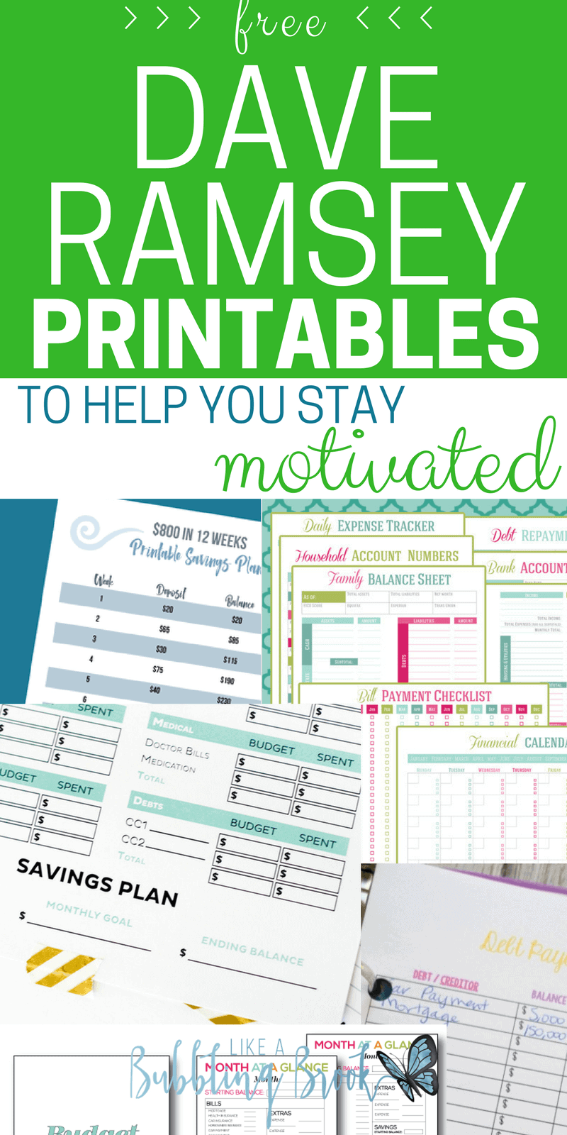 Dave Ramsey Printables That Will Help You Stay Motivated and Gazelle Intense
