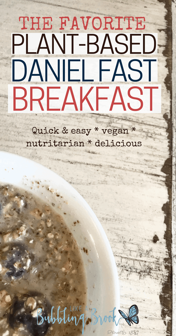 My favorite plant based breakfast and it's also a great daniel fast breakfast, too!