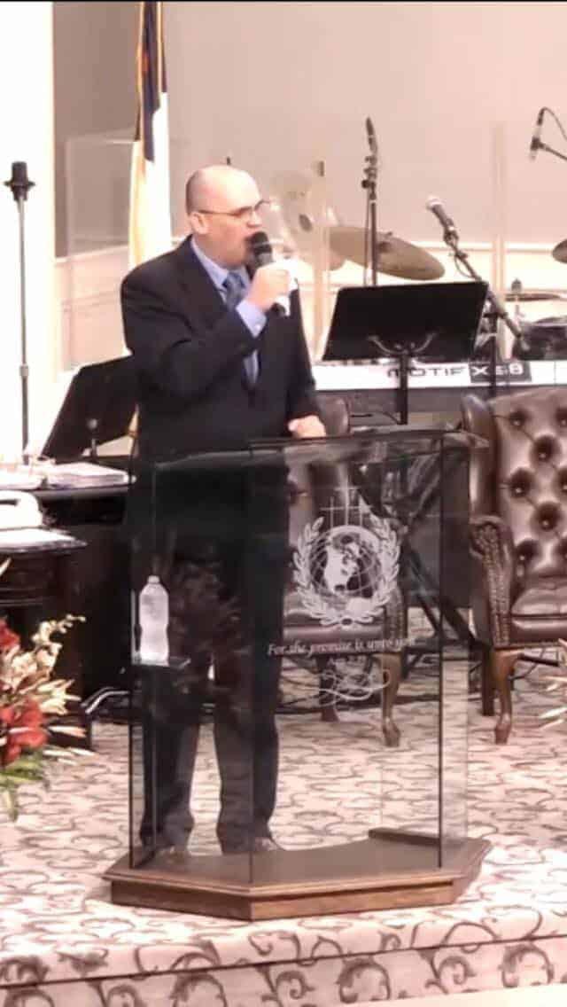 duane preaching after his healing