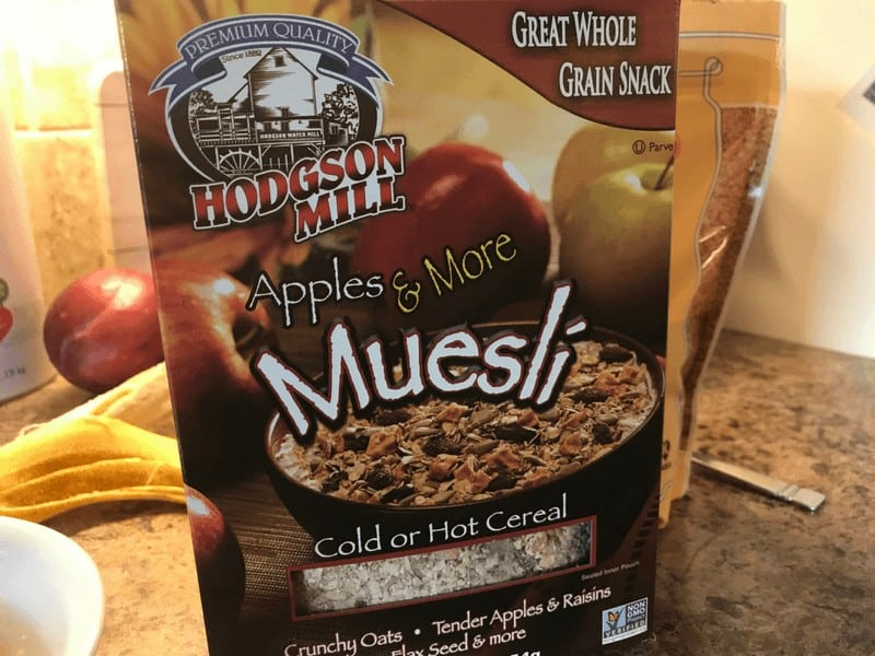 Box of Muesli cereal by Hodgson Mill
