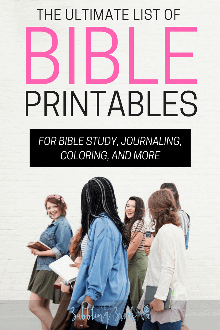If you're looking for Bible printables for your personal study time, bible study group, Sunday School class, youth group, or women's gathering, you'll find this list of [mostly] free Bible printables to be just what you're looking for. These Bible reading plans, journaling pages, coloring pages, Scripture cards, and more will keep you motivated and actively growing in God's Word!