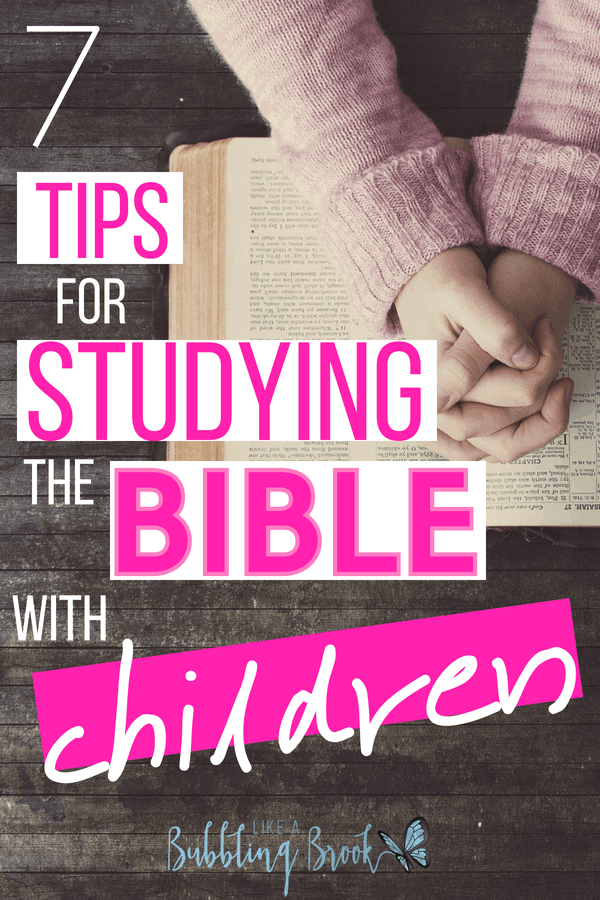 Tips for studying the bible with children