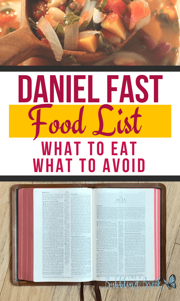 The Daniel Fast Food List - What To Eat, What To Avoid