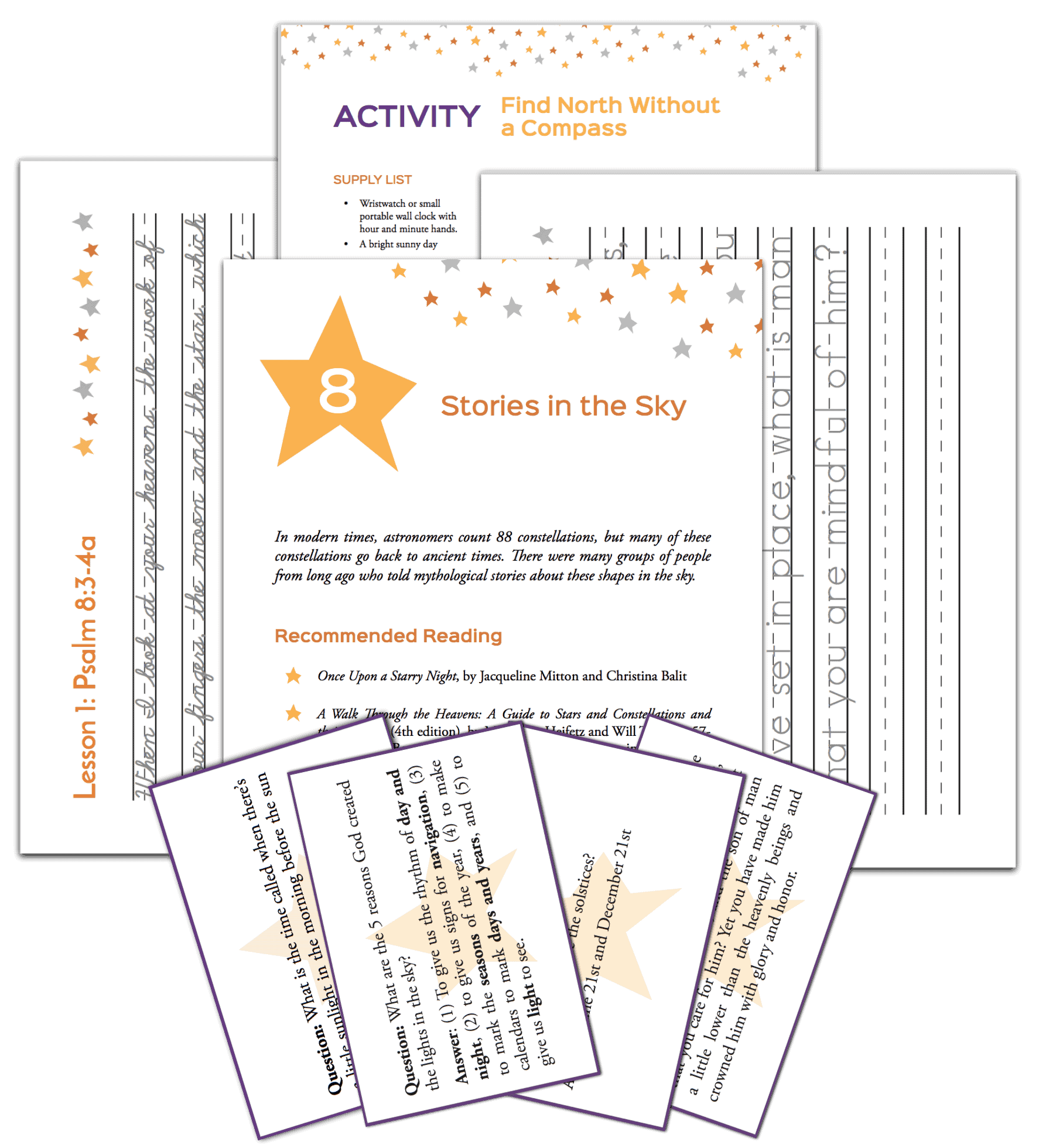 Homeschool science Experience Astronomy activity pages for elementary students