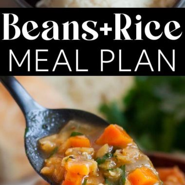 My Dave Ramsey Meal Plan For A Beans and Rice Budget - pin for Pinterest