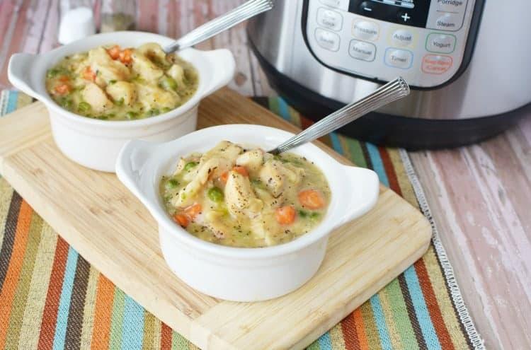 Budget Instapot recipes - Chicken and dumplings
