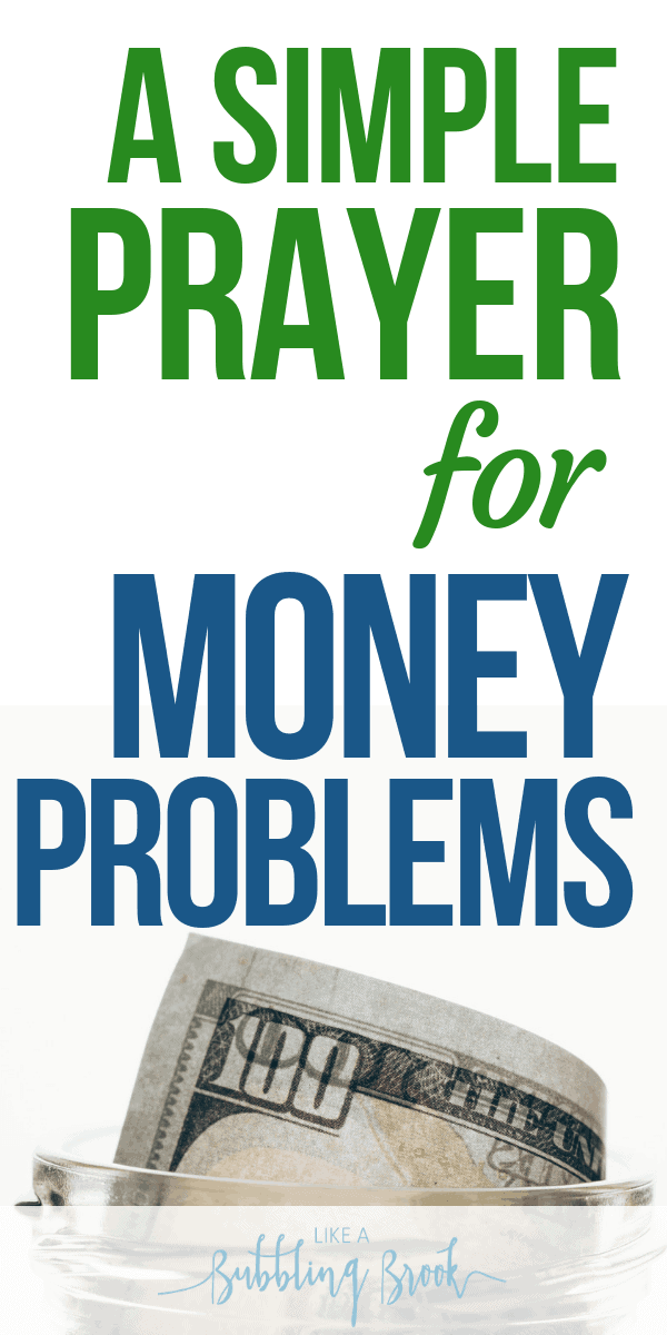 Prayer for Finances: How To Pray When Money's Tight / Prayer for Money Problems pinterest