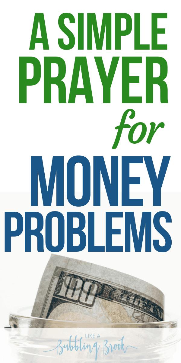 Prayer for Finances: How To Pray When Money's Tight / Prayer for Money Problems pinterest