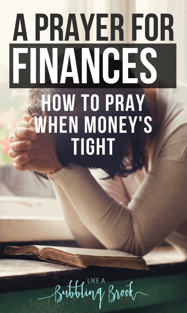 Prayer for finances - How to pray when money is tight