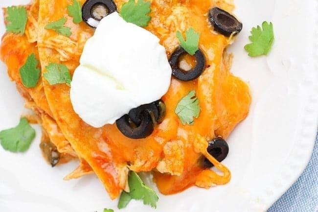 Budget Instapot recipes - chicken enchiladas