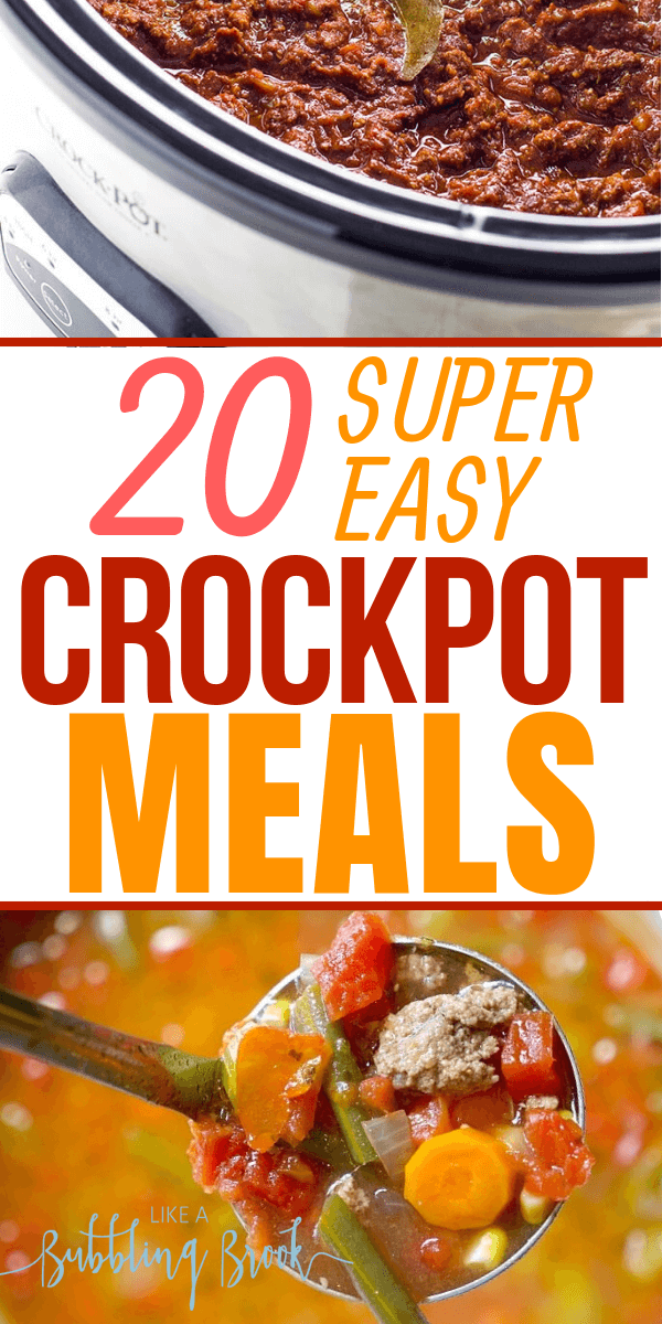 20 easy crockpot meals and slow cooker recipes that will help you stay out of the fast food line on a busy weeknight