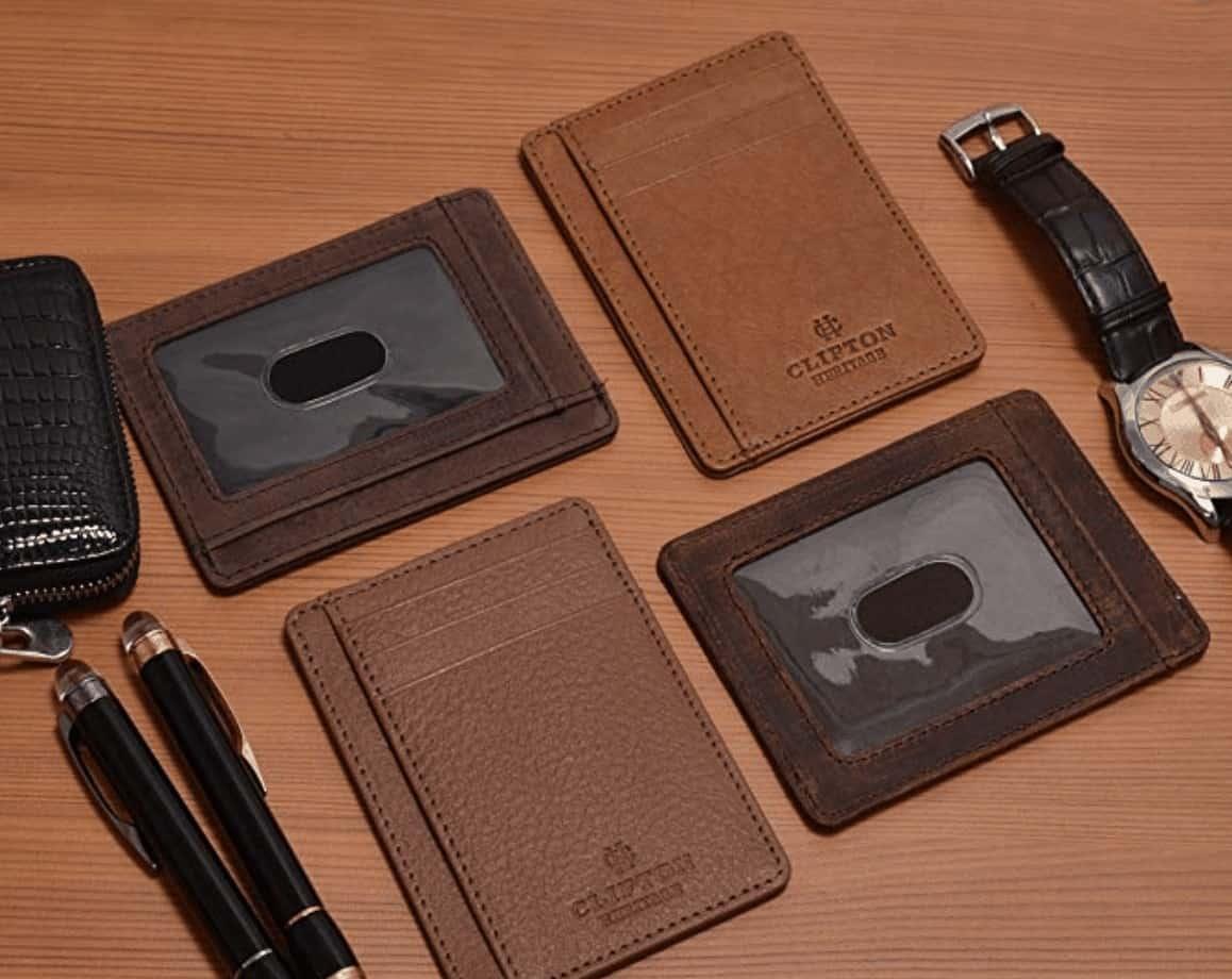 Slim pocket RIFD wallet