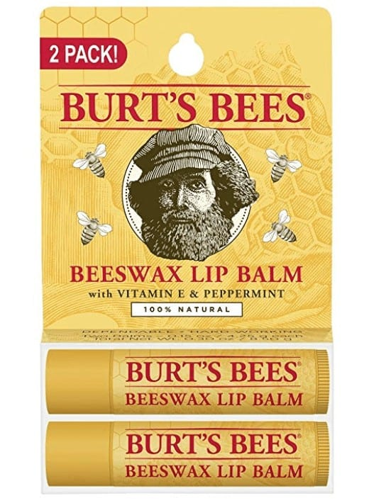 Burt's Bees beeswax lip balm for Christmas