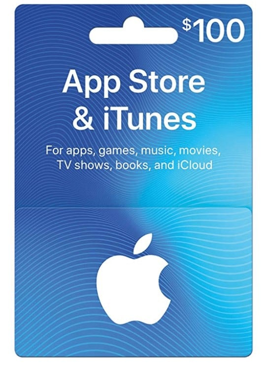 iTunes gift card for Christmas