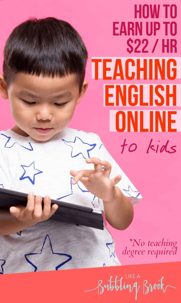 Teach English online to Chinese students