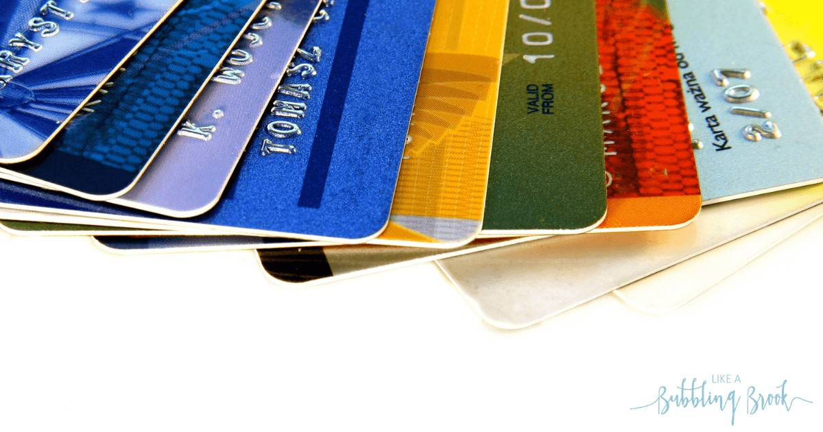 Several credit cards