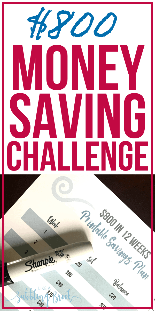 Try this Money Saving Challenge to save $800 in just 12 weeks!