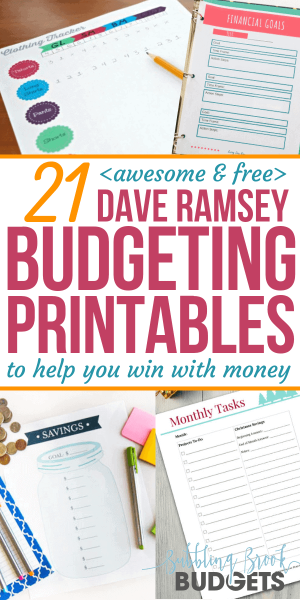 21 Awesome & Free Dave Ramsey Budgeting Printables That'll Help You Win With Money
